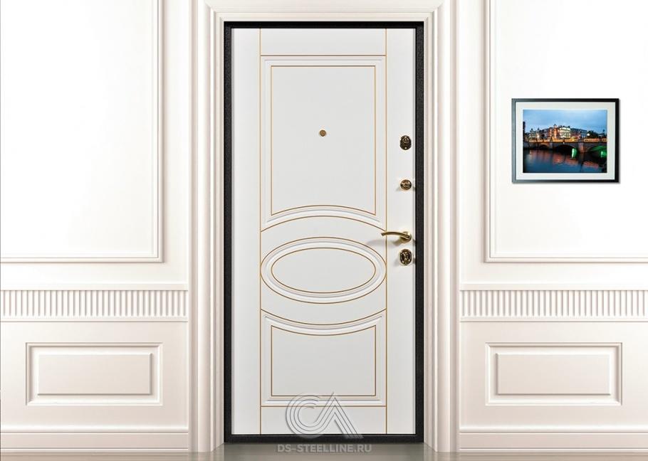 металлическая дверь входная снаружи белая